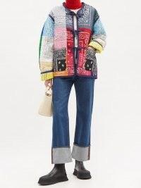 LA FETICHE Janis reversible patchwork cotton-bandana jacket / paisley print jackets