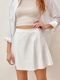 REFORMATION Joey Skirt / short white skirts