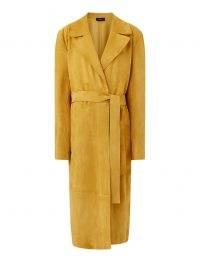 JOSEPH Suede June Coat in Saffron