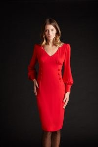 goat KACEY CADY PENCIL DRESS / LRD / vibrant red dresses
