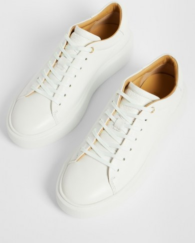 Ted Baker YINKA Leather platform trainer | white thick sole trainers