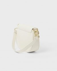 Ted Baker AMALI Leather round cross body bag Ivory | crossbody bags