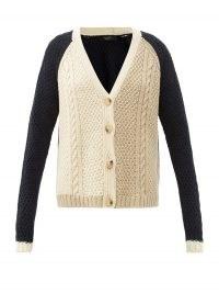WEEKEND MAX MARA Lipari cardigan ~ relaxed cable knit cardigans