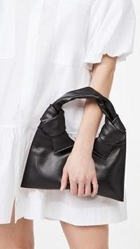 Little Liffner Knot Evening Bag in black leather