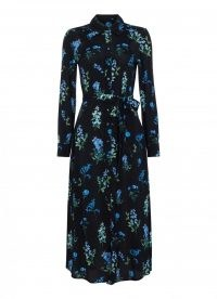goat LIVIA MEADOW SHIRT DRESS / floral print collared dresses