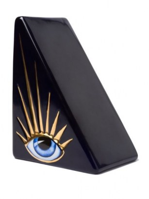 L'Objet Lito bookend ~ contemporary eye motif bookends ~ home accessories - flipped