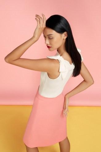 goat LOCKWOOD BOW DETAIL BLOUSE / feminine sleeveless tops - flipped