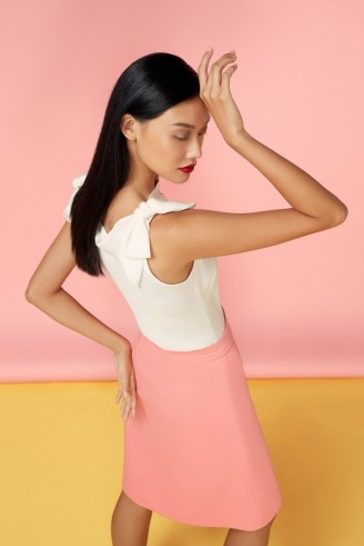 goat LOCKWOOD BOW DETAIL BLOUSE / feminine sleeveless tops
