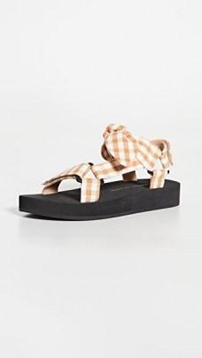 Loeffler Randall Maisie Sporty Sandals Amber Gingham - flipped