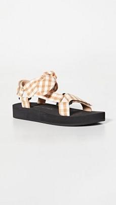 Loeffler Randall Maisie Sporty Sandals Amber Gingham