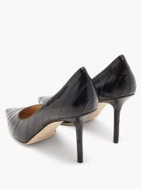 JIMMY CHOO Love 85 point-toe leather pumps / black pointed toe court shoes / stiletto courts