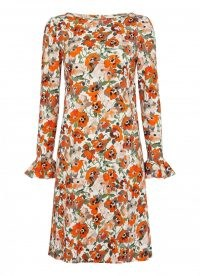 goat LUCY POPPY TUNIC DRESS / floral flared sleeve dresses