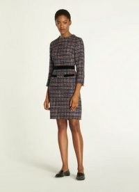 L.K. Bennett LUCY MULTICOLOURED TWEED DRESS ~ frayed trim dresses
