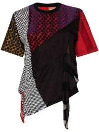 Marques'Almeida reM'Ade patchwork T-shirt ~ multi print tee ~ asymmetric hem