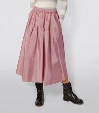 MAX&CO Taffeta Midi Skirt in 1 Hammond Pink