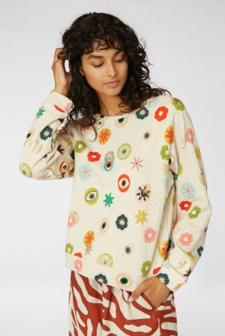 gorman MEDALLION LUREX SWEATER – printed tops