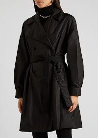 MONCLER Meboula black double-breasted shell jacket