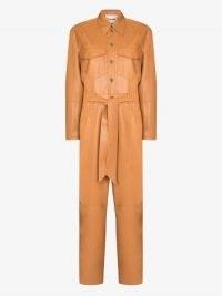 Nanushka Ashton Vegan Leather Jumpsuit ~ luxe utility jumpsuits
