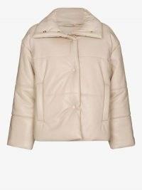 Nanushka Hide Vegan Leather Puffer Jacket ~ casual luxe style jackets
