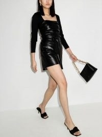 Nanushka Leana Vegan Leather Shorts ~ faux fabrics