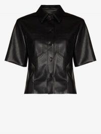 Nanushka Sabine Vegan Leather Shirt ~ black shirts