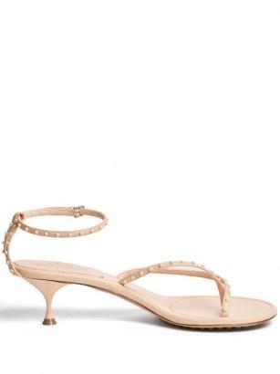 BOTTEGA VENETA Nappa Lagoon Bubble pink-leather sandals - flipped