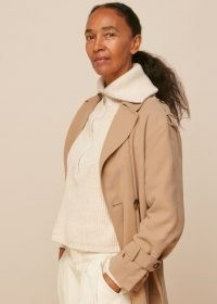 Whistles RILEY TRENCH COAT | neutral tie waist coats