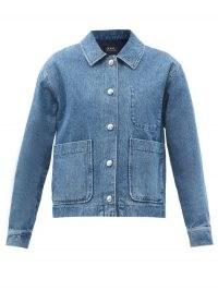 A.P.C. Nikkie single-breasted denim jacket   blue oversized-pocket jackets