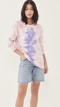 One Teaspoon Lilac Smoke Tie Dye Long Sleeve Tee