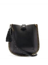 ISABEL MARANT Oskan studded leather shoulder bag | black stud detail bags
