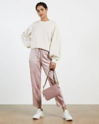 Ted Baker AIDIINA Oversized sweatshirt | cream balloon sleeve sweatshirts