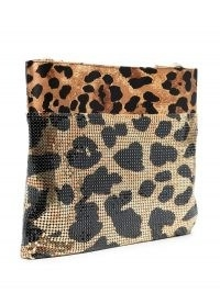 Paco Rabanne leopard print shoulder bag ~ metal bags