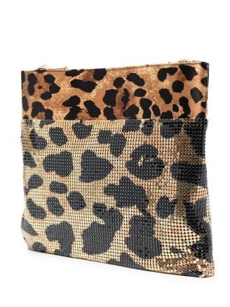 Paco Rabanne leopard print shoulder bag ~ metal bags - flipped