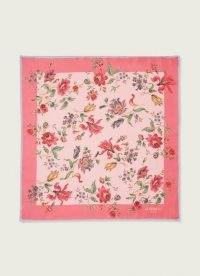 L.K. BENNETT PHELIA PINK SILK SCARF ~ floral scarves