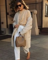 Using just neutrals for a complete outfit can work, giving it a luxe look ~ casual chic