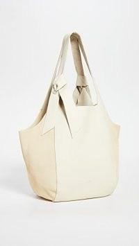 Rag & Bone Grand Shopper Tote Antique White ~ chic shoppers ~ leather bags