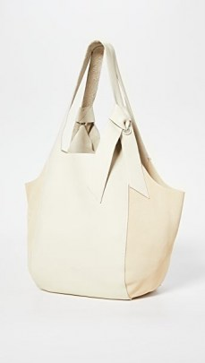 Rag & Bone Grand Shopper Tote Antique White ~ chic shoppers ~ leather bags - flipped