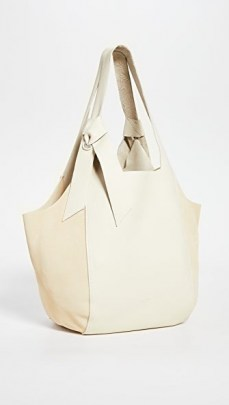 Rag & Bone Grand Shopper Tote Antique White ~ chic shoppers ~ leather bags
