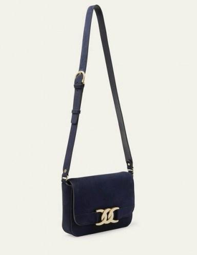 Boden Rebecca Crossbody Bag Navy Suede