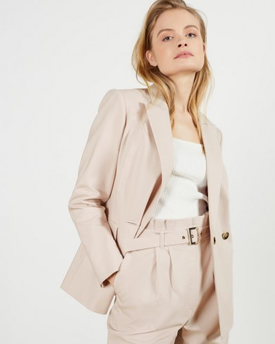 TED BAKER LUCJA Relaxed Blazer ~ neutral spring jacket