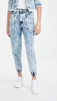 Retrofete Myla Acid Wash Pants   Light Blue Acid Denim Jeans