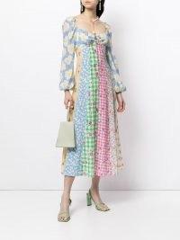 Rixo Ivy patchwork dress – mixed print dresses