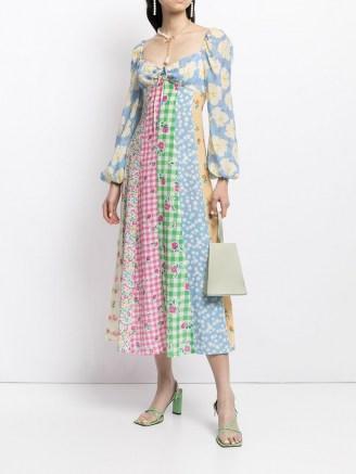 Rixo Ivy patchwork dress – mixed print dresses - flipped