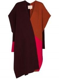 Roksanda Noa colour-block asymmetric cape ~ contemporary capes