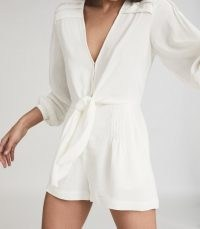 REISS ROSE WIDE SLEEVE PLAYSUIT WHITE / chic playsuits
