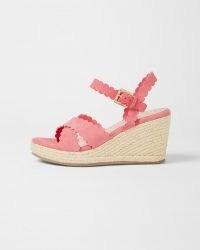 TED BAKER SELANAS Scalloped Wedge Espadrille Sandal in Pink ~ summer wedges