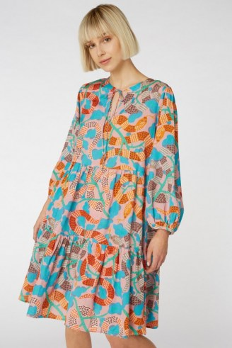 gorman Serpentine Dress – loose tiered dresses – snake prints