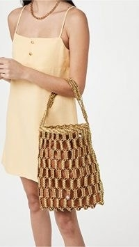 Simon Miller Tiki Tote in Chartreuse/Toffee