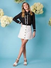 sister jane Ray Floret Jacquard Mini Skirt