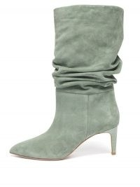 PARIS TEXAS Slouchy green-suede boots